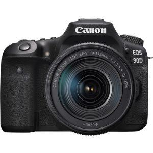 بررسی مشخصات و قیمت دوربین کانن 90d با کیت 18 135