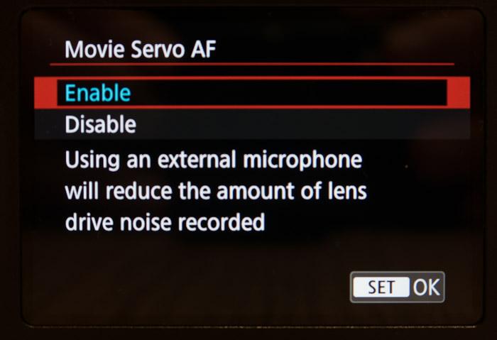 قابلیت Movie Servo AF در دوربین 800d