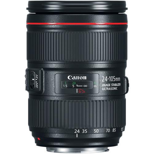 بررسی لنز کانن Canon EF 24 105mm IS II USM