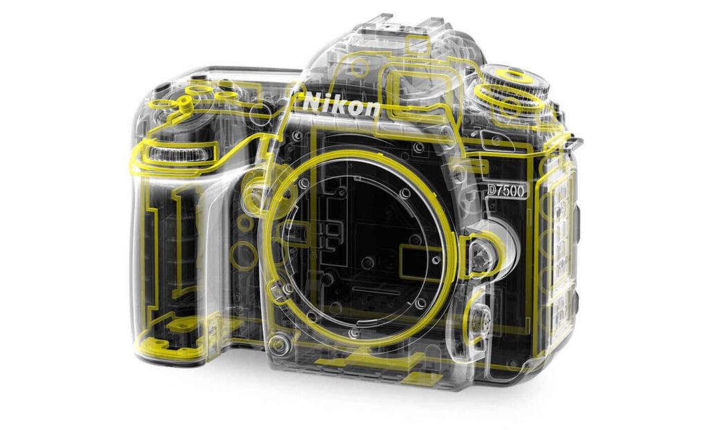 طراحی بدنه ی دوربین D7500 Nikon