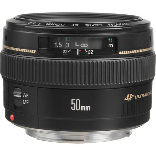 لنز کانن canon 50mm f/1.4