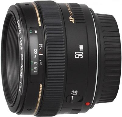 قیمت لنز canon 50mm f/1.4
