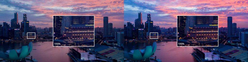 جزئیات بالا عکس در هلی شات مویک پرو 2 کمبو DJI Mavic 2 Pro Combo