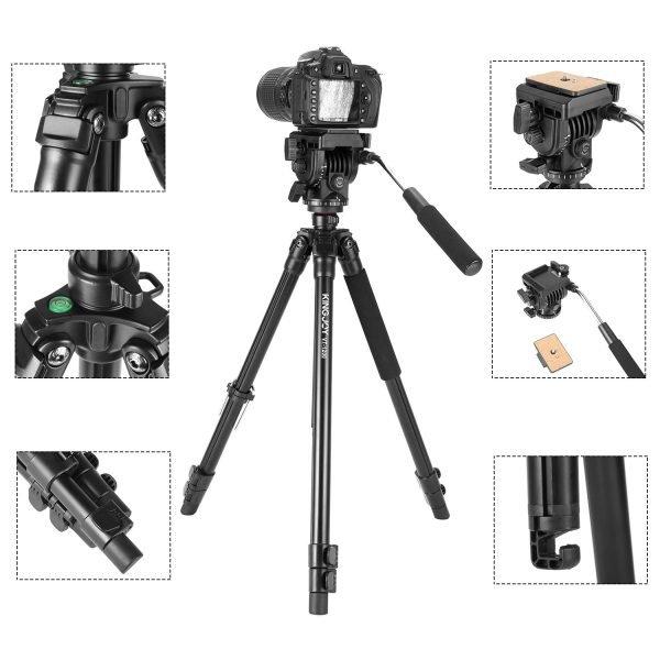 سه پایه دوربین کینگ جوی مدل VT 866