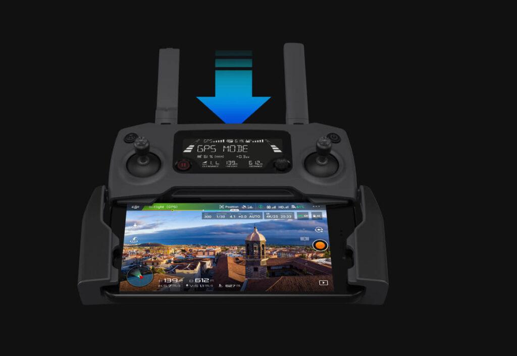 قابلیت دانلود سریع کنترلر هلی شات مویک پرو 2 کمبو DJI Mavic 2 Pro Combo