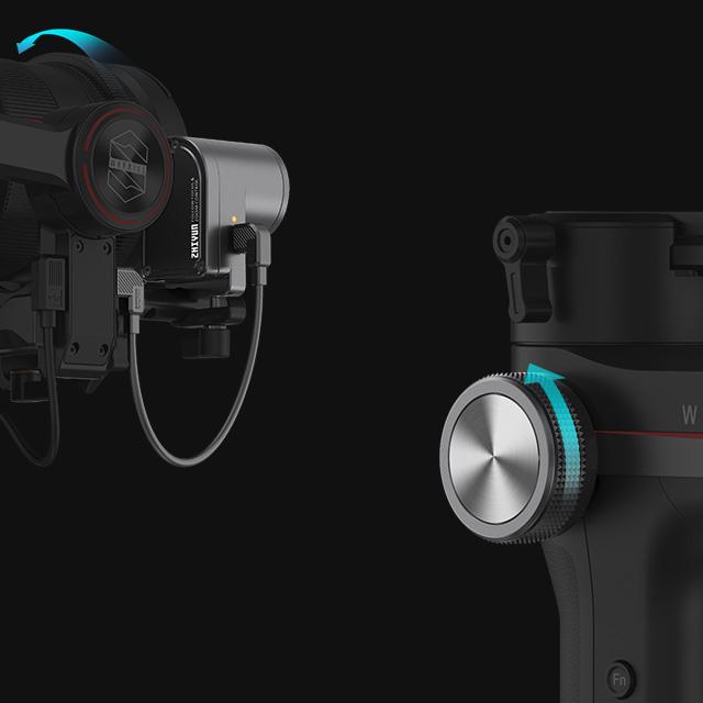کنترل فوکوس و زوم استابلایزر دوربین ویبیل اس Zhiyun WEEBILL S