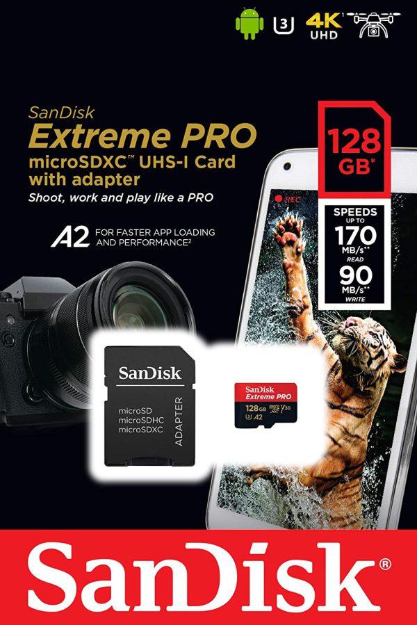 مشخصات و قیمت و خرید میکرو اس دی سن دیسک Sandisk Micro SDXC 128GB 170MB S در دوربین استور
