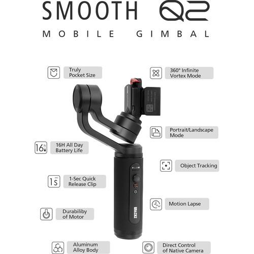مشخصات گیمبال موبایل ژیون Zhiyun Smooth Q2