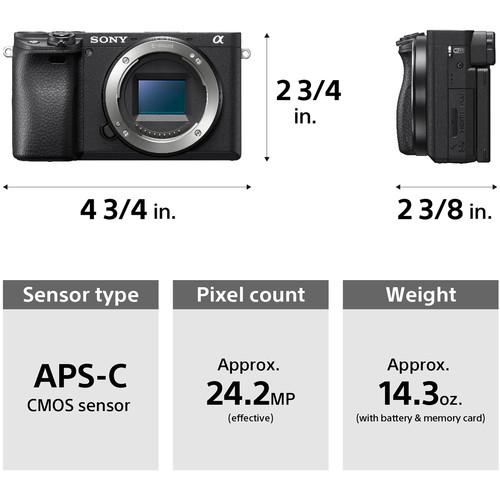 مشخصات دوربین بدون آینه سونی Sony Alpha 6400 Body