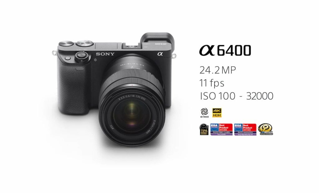 مشخصات دوربین بدون آینه سونی Sony Alpha A6400 Kit 18 135mm